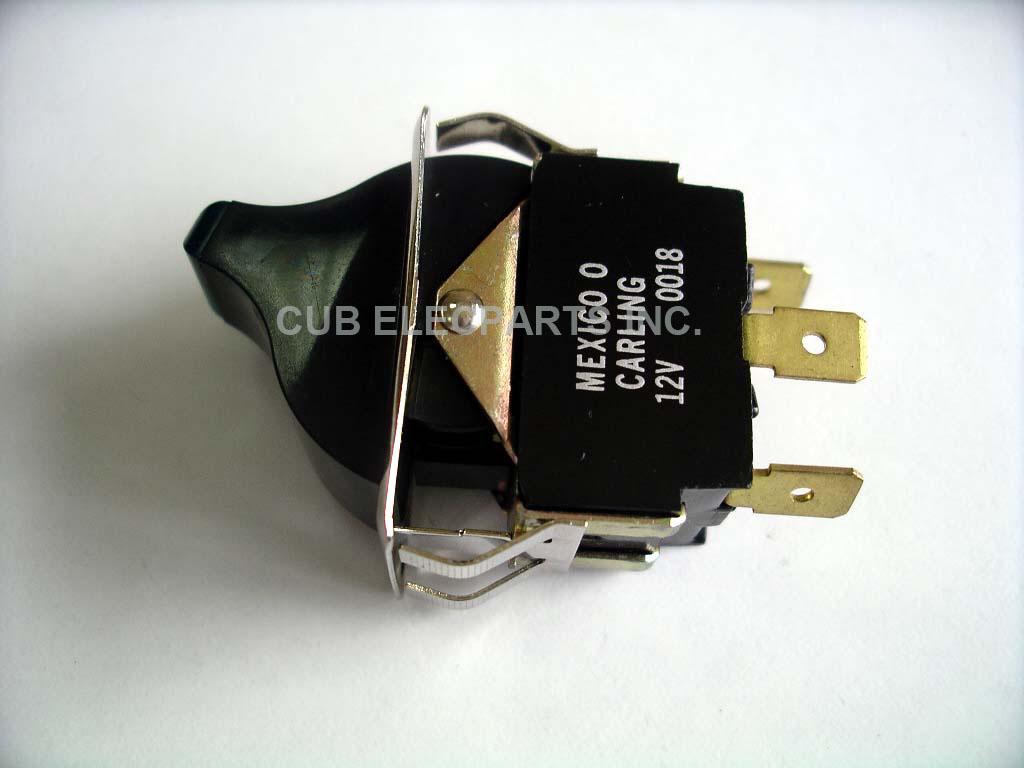 Cub Elecparts Inc 12v Rocker Switch W Blue Led All Electronics Corp Vs